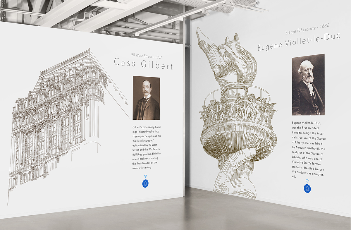 """Pop Up"" exhibit celebrating the great architects of Wall Street"