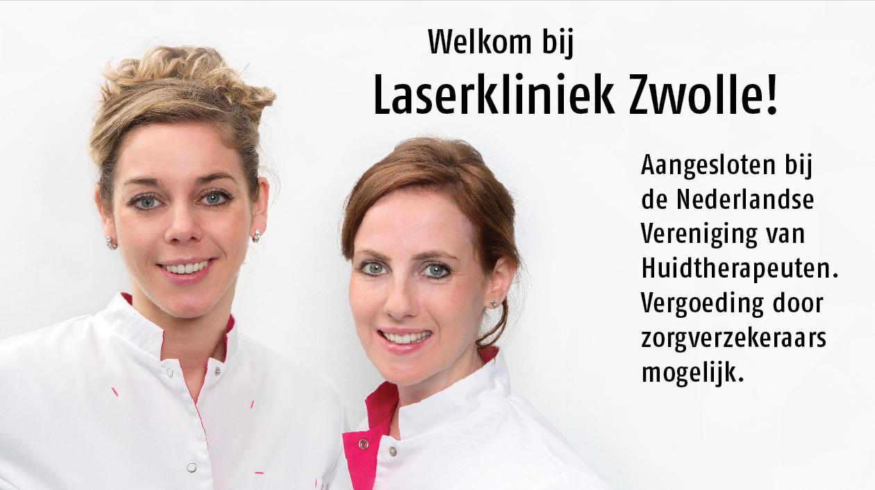 Laserkliniek Zwolle is aangesloten bij de Nederlandse Vereniging van Huidtherapeuten. Bezoek onze website voor meer informatie.