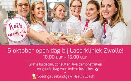 Meekijken met laserbehandelingen en gratis advies tijdens de open dag bij Laserkliniek Zwolle