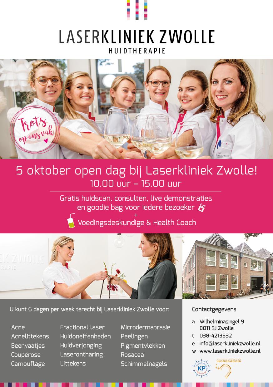 Meekijken met laserbehandelingen en gratis advies tijdens open dag Laserkliniek Zwolle