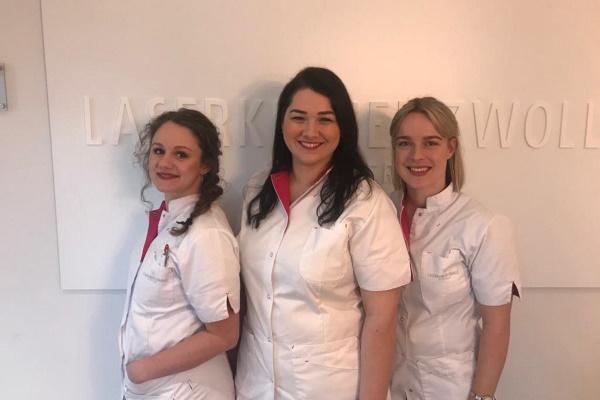 Team power! 3 nieuwe gezichten in onze Zwolse Laserkliniek. Nienke, Laura en Henrique zullen het team van Laserkliniek Zwolle komen versterken!