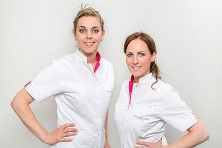 Dit zijn huidtherapeuten Anouk Bliekendaal en Michelle Janssen