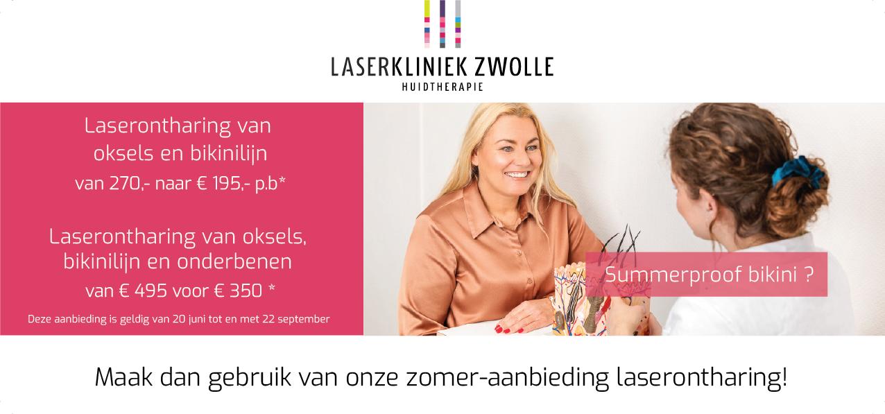 Zomer-aanbieding laserontharing bij Laserkliniek Zwolle
