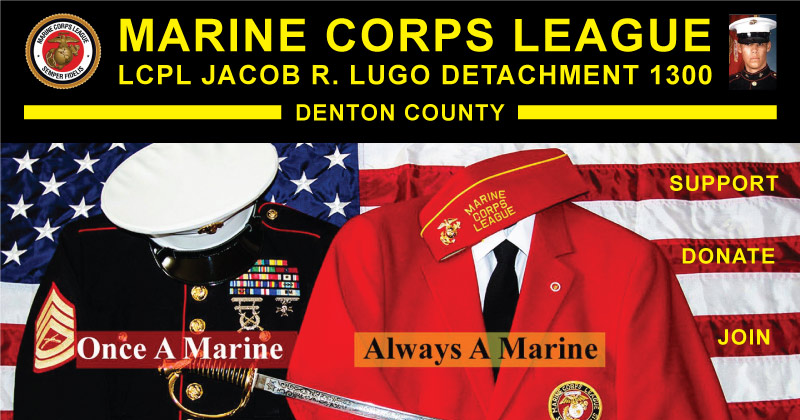 Denton County Marine Corps League - Support - Donate - Join