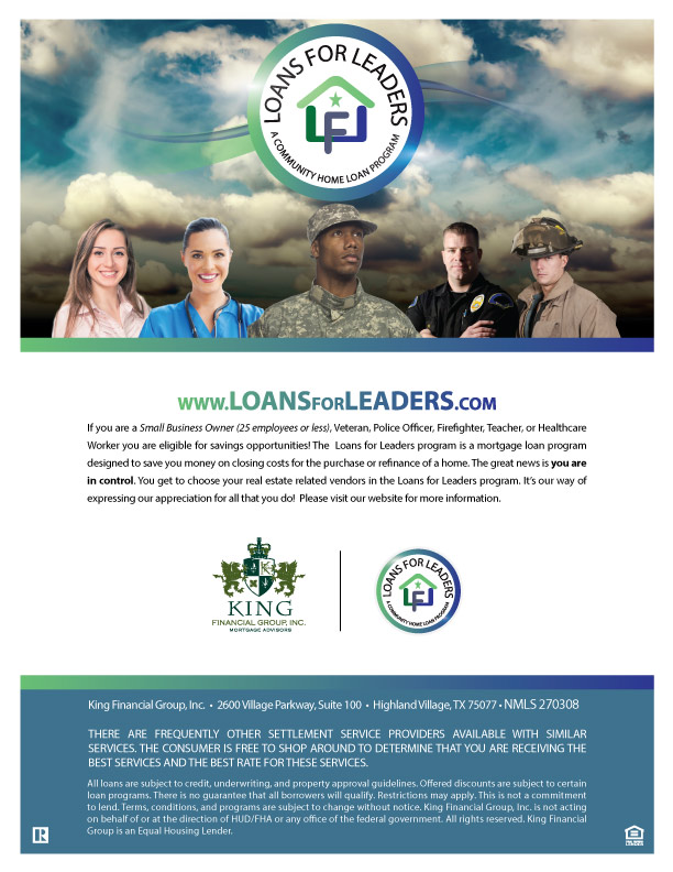 Loans for Leaders Main Flyer