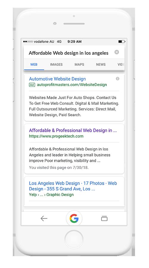 Google Organic top Rank