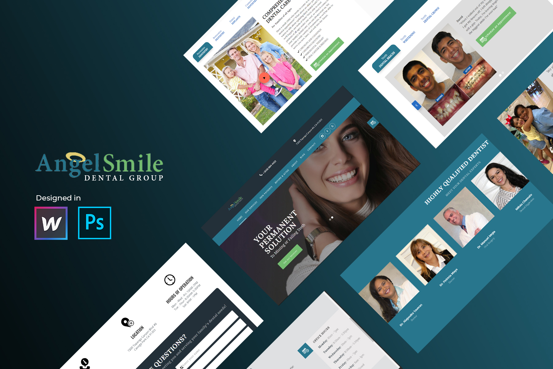 Dentist webflow design