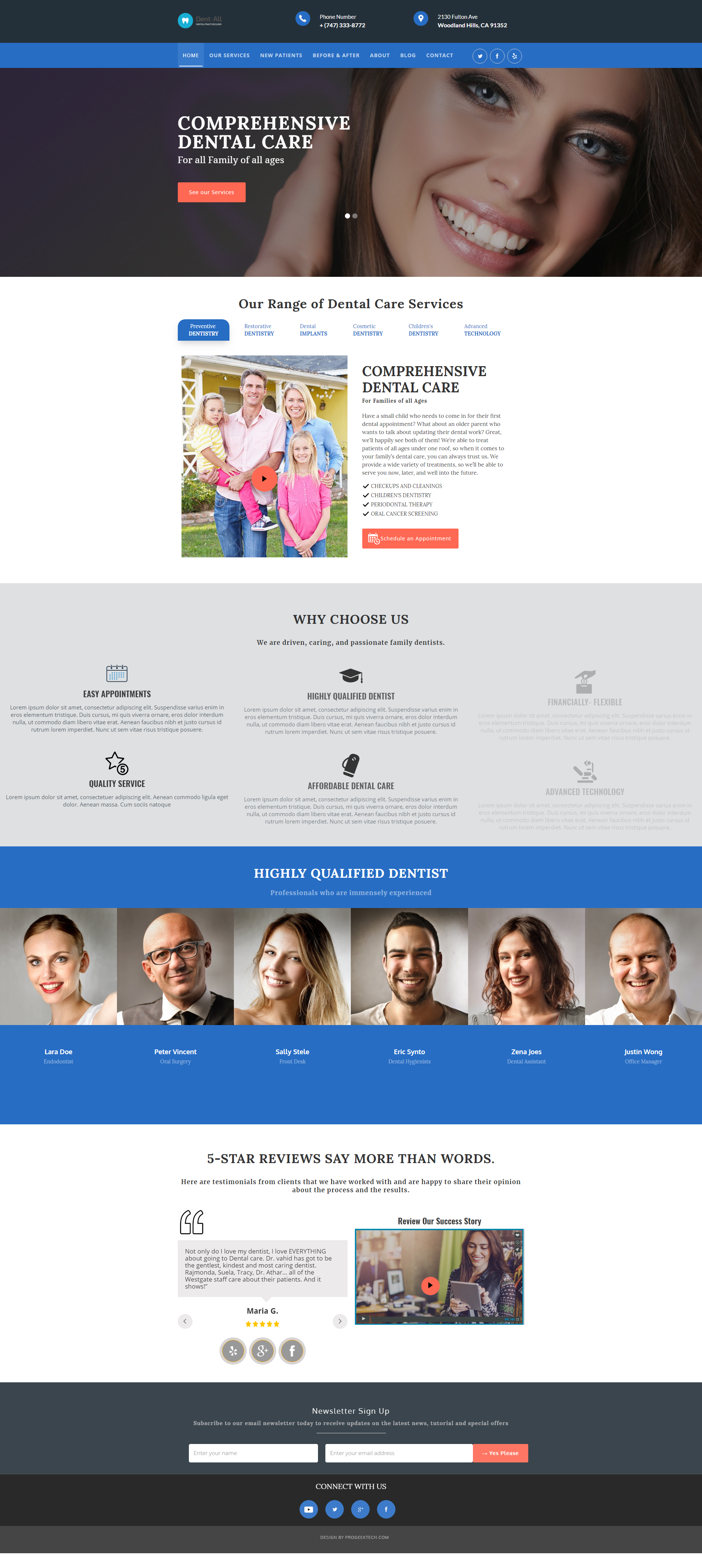 Dentistry Theme Design