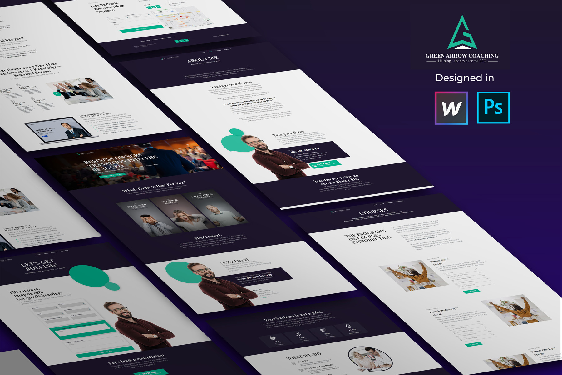 Coaching-consulting webflow template