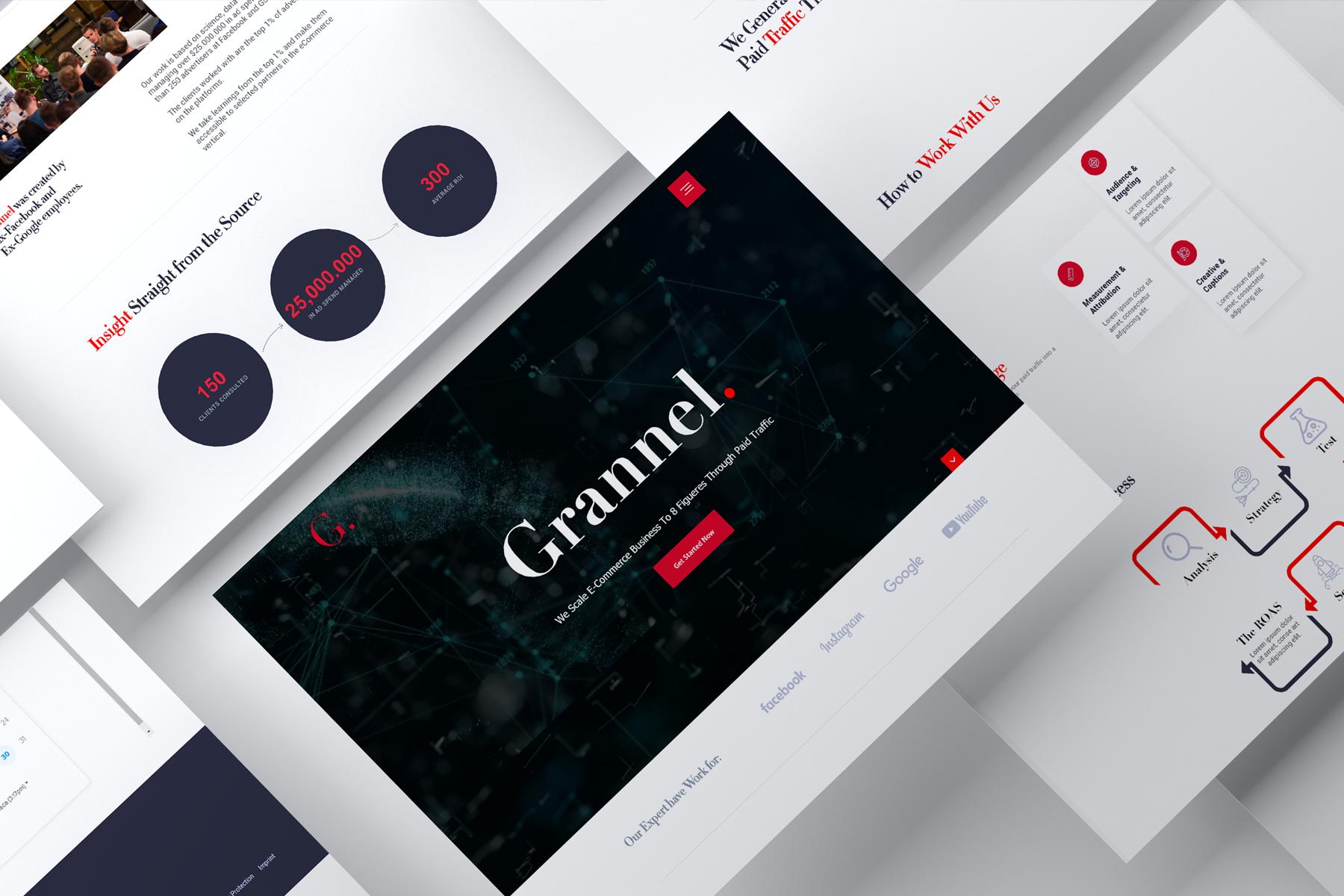 Grannel Webflow design