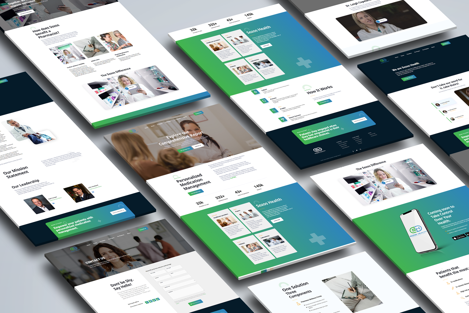 Sozos webflow design