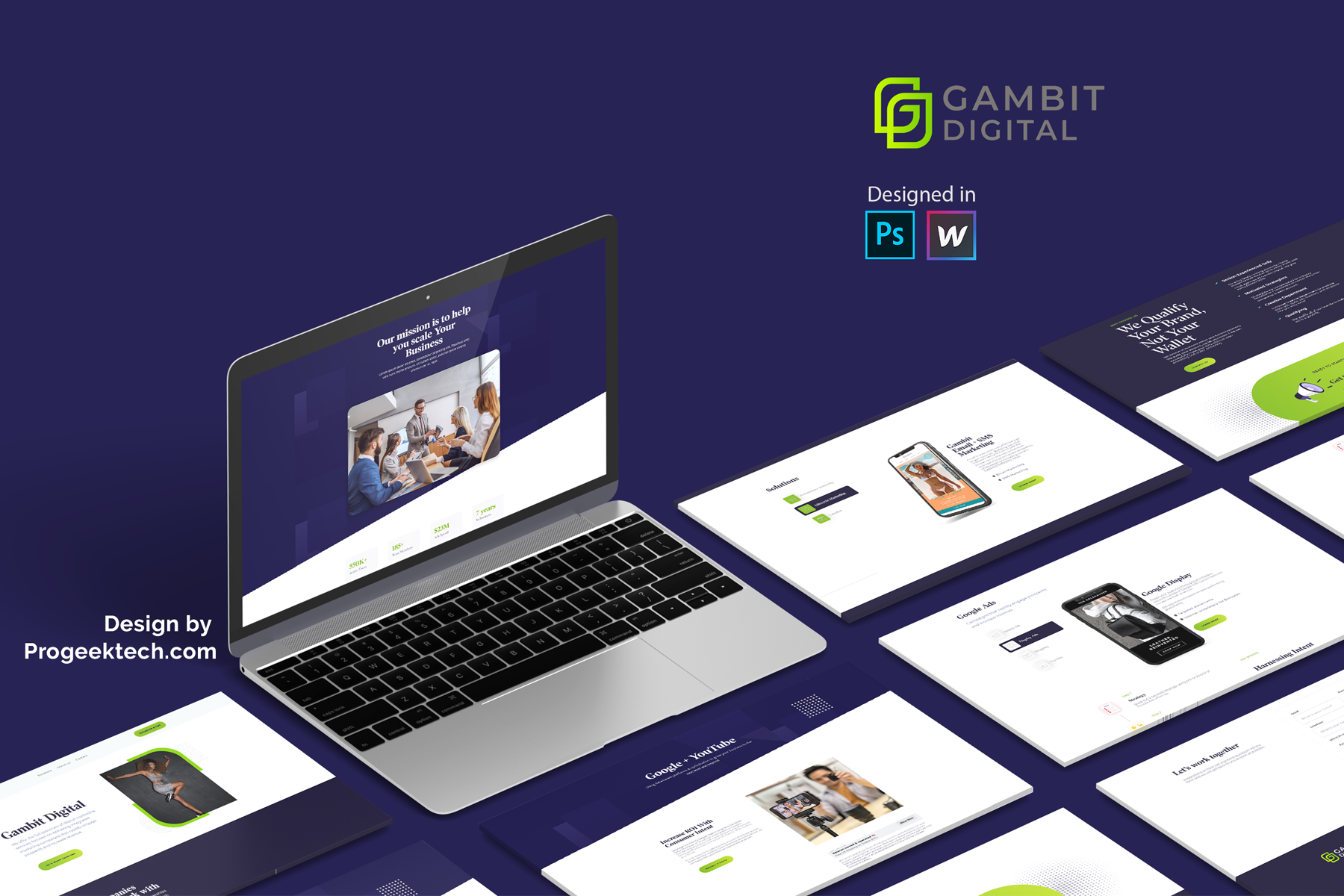 Gambit webflow design