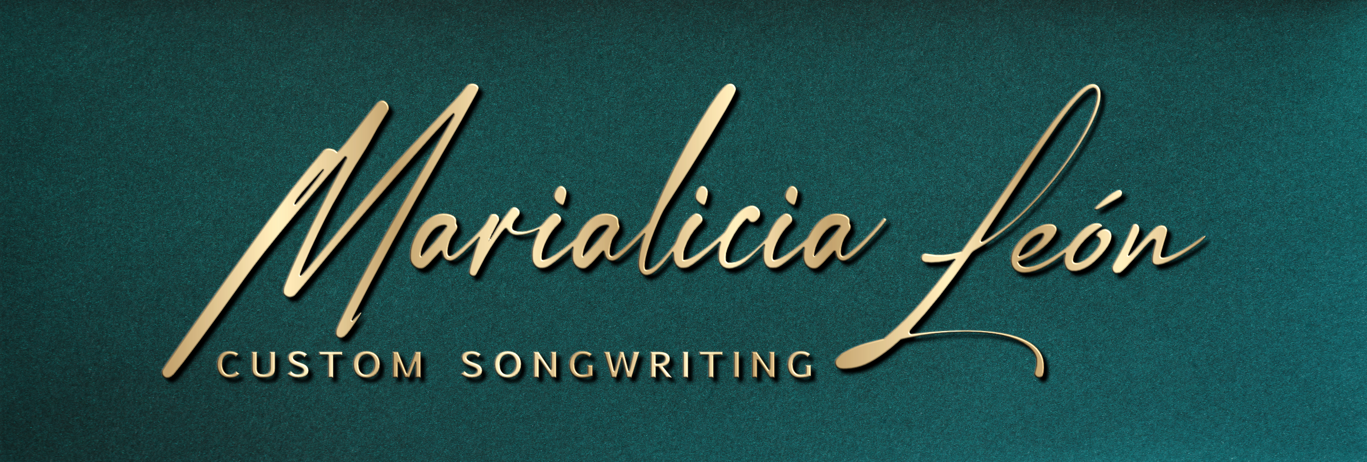 Marialicia León. Custom Songwriting Logo