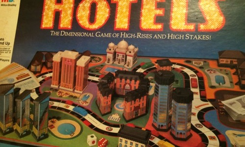 Hotels 80s board game