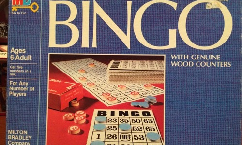 Deluxe edition Bingo 80s board game