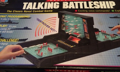 Talking Battleship 80s board game