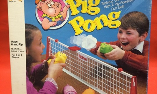80s Pig Pong board game