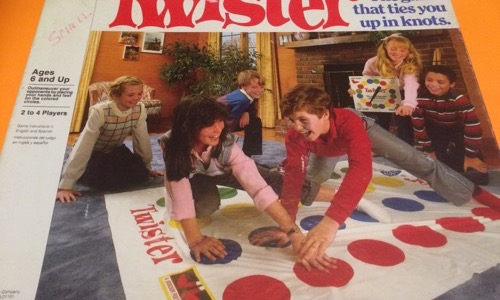 Twister kids board game