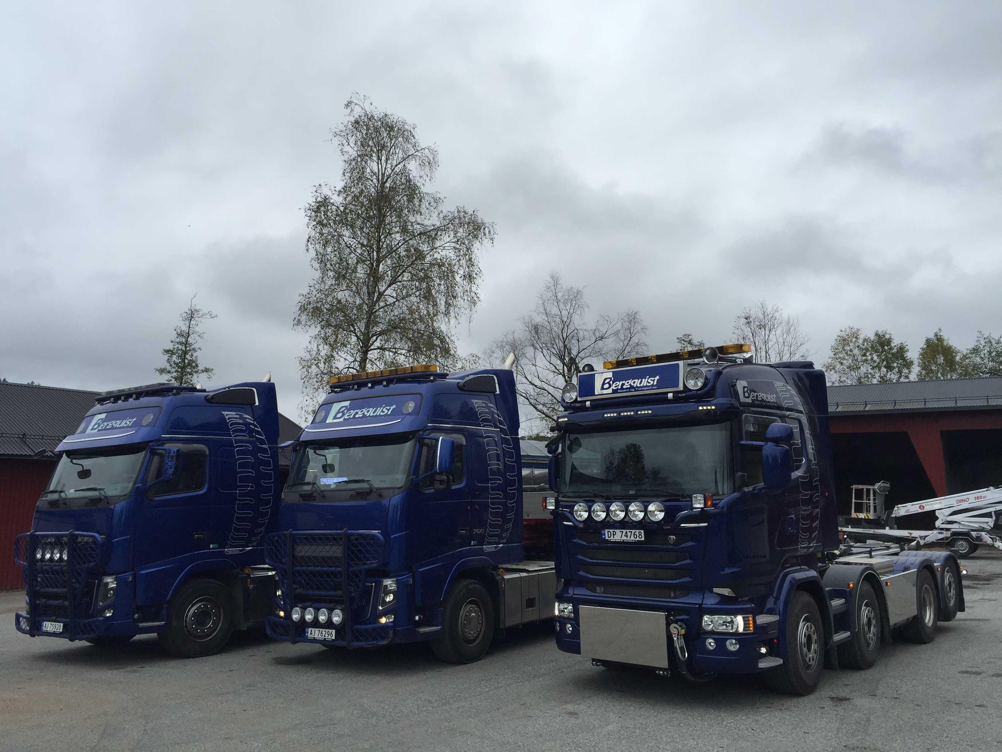 Bilde av lastebiloppstilling