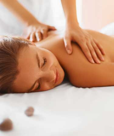woman having massage therapy