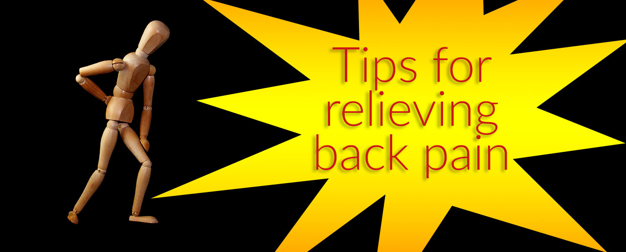 Tips for relieving back pain