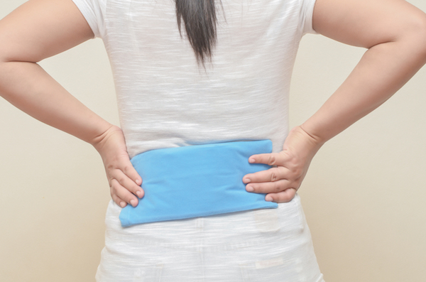 A cold pack helps relieve pain and inflammation