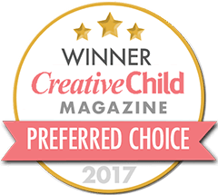 Seal reflecting 2017 Creative Child Magazine Preferred Choice Award