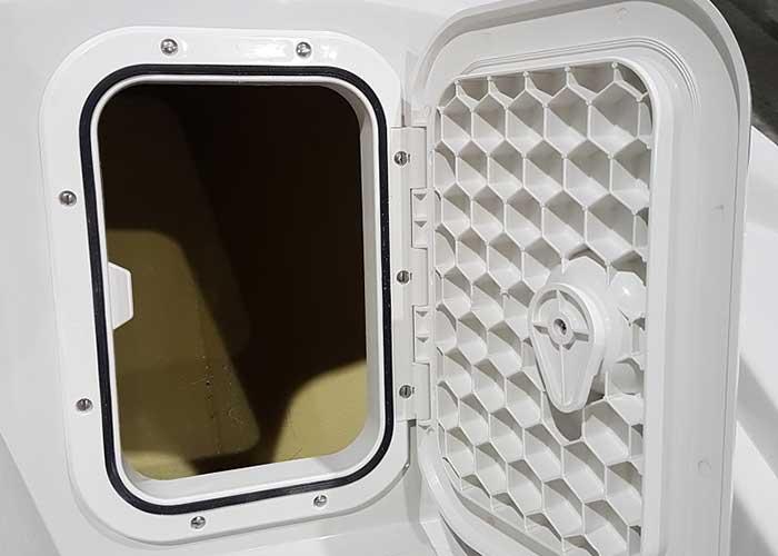 photo of the rannoch explorer storage compartment