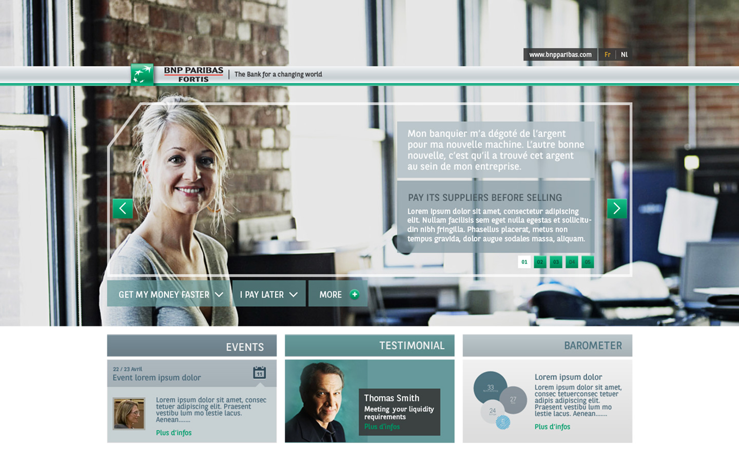 BNP Paribas Fortis – Design photoshop – Working capital - Reporting