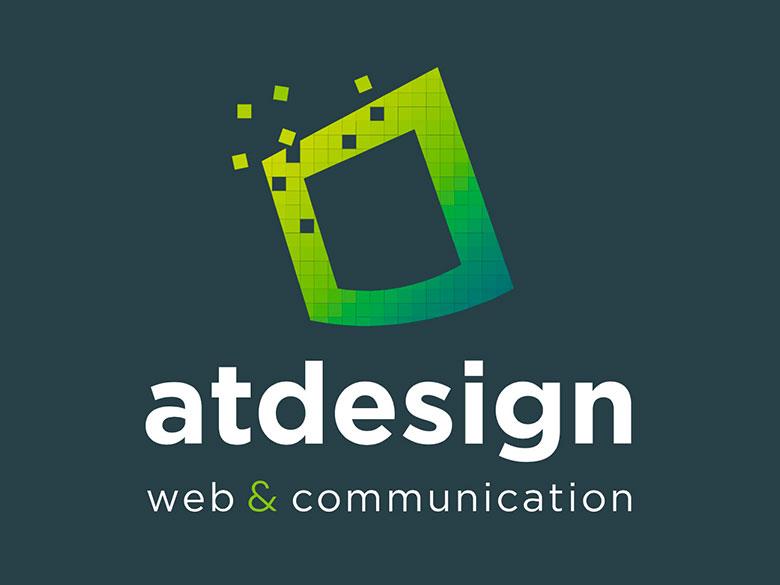 ATdesign – Design du site web et participation à la réalisation du logo de l'agence de communication