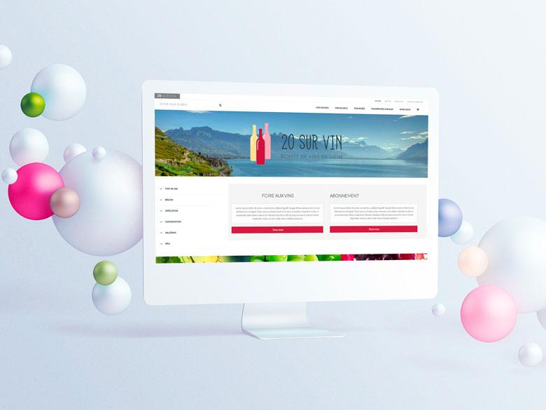 20 sur vin – Design d'un template sur mesure pour une boutique en ligne – UX UI