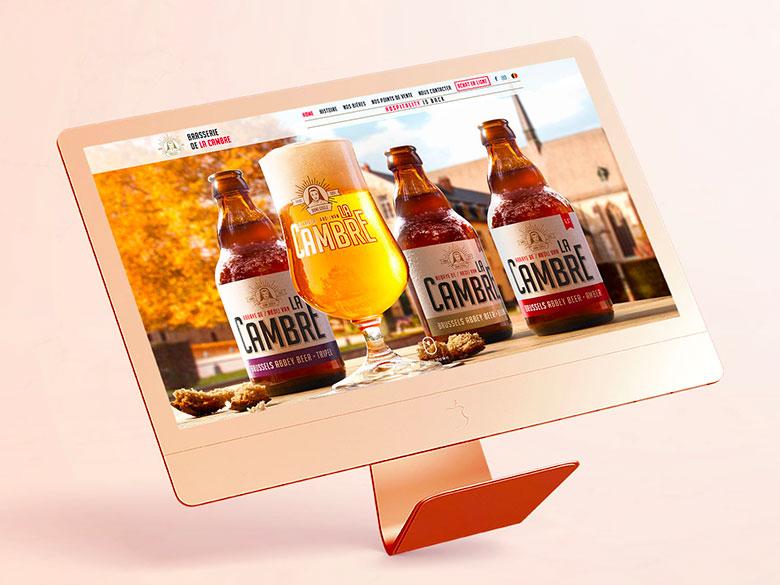 Brasserie de La Cambre – Création du site vitrine de la bière de La Cambre