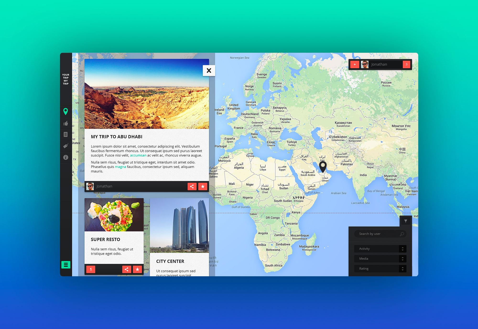 Your Trip My Trip – UX Design pour une application de voyage