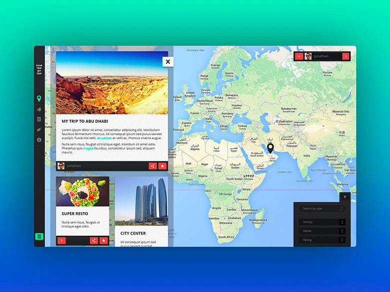 Your Trip My Trip – UX Design pour une application de voyage