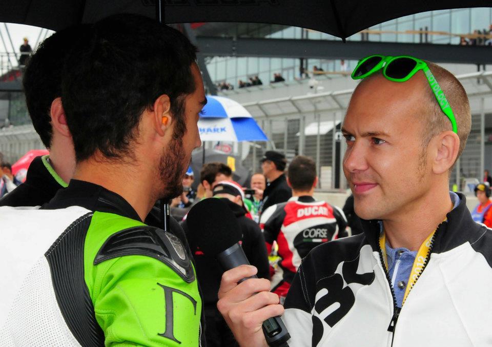 Michael Hill interviews rider