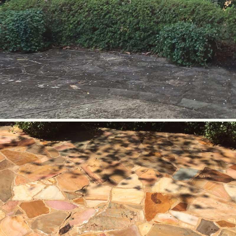 see the power of pressure washing