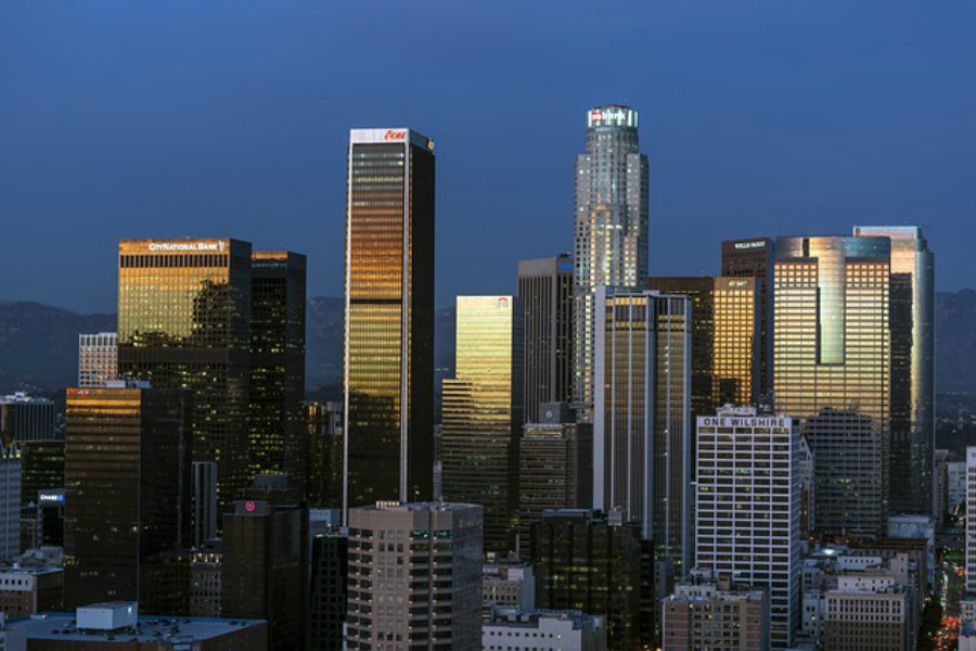 skyline shot of Downtown Los Angeles