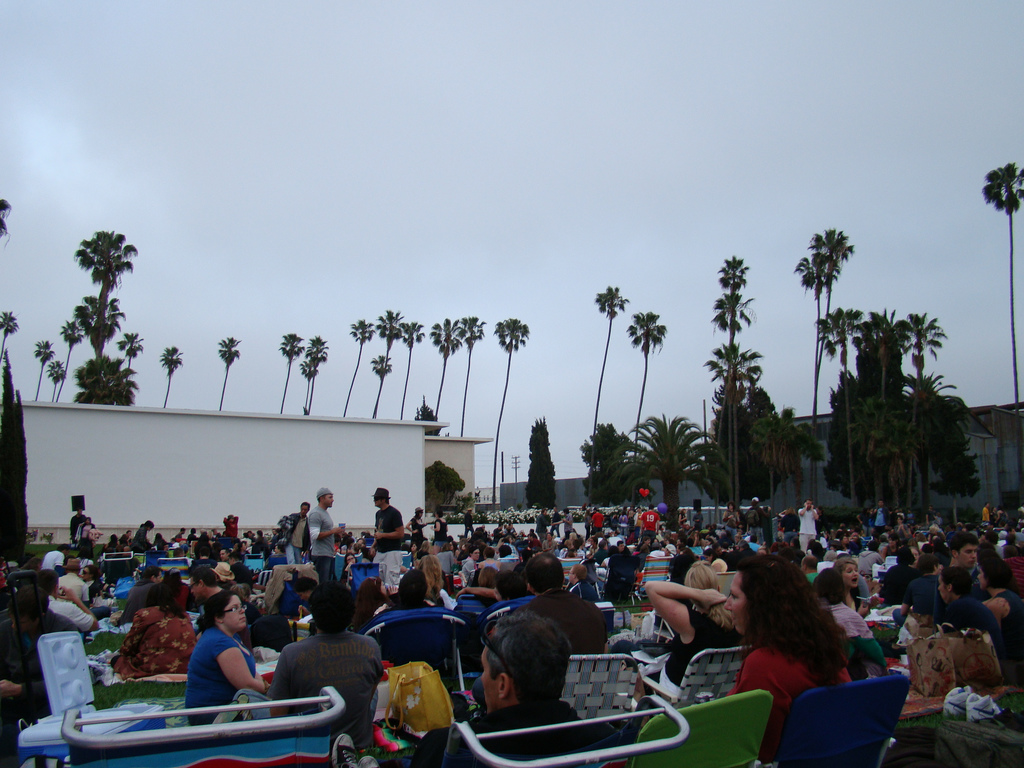watching an outdoor movie in los angeles