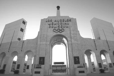 Main entrance of the LA Coliseum