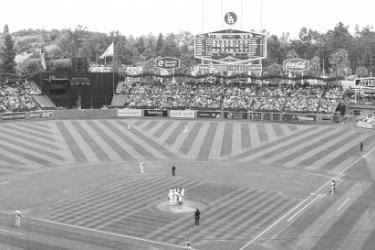 Dodgers Team playing in Los Angeles
