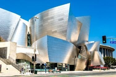Outside of Walt Disney Concert Hall
