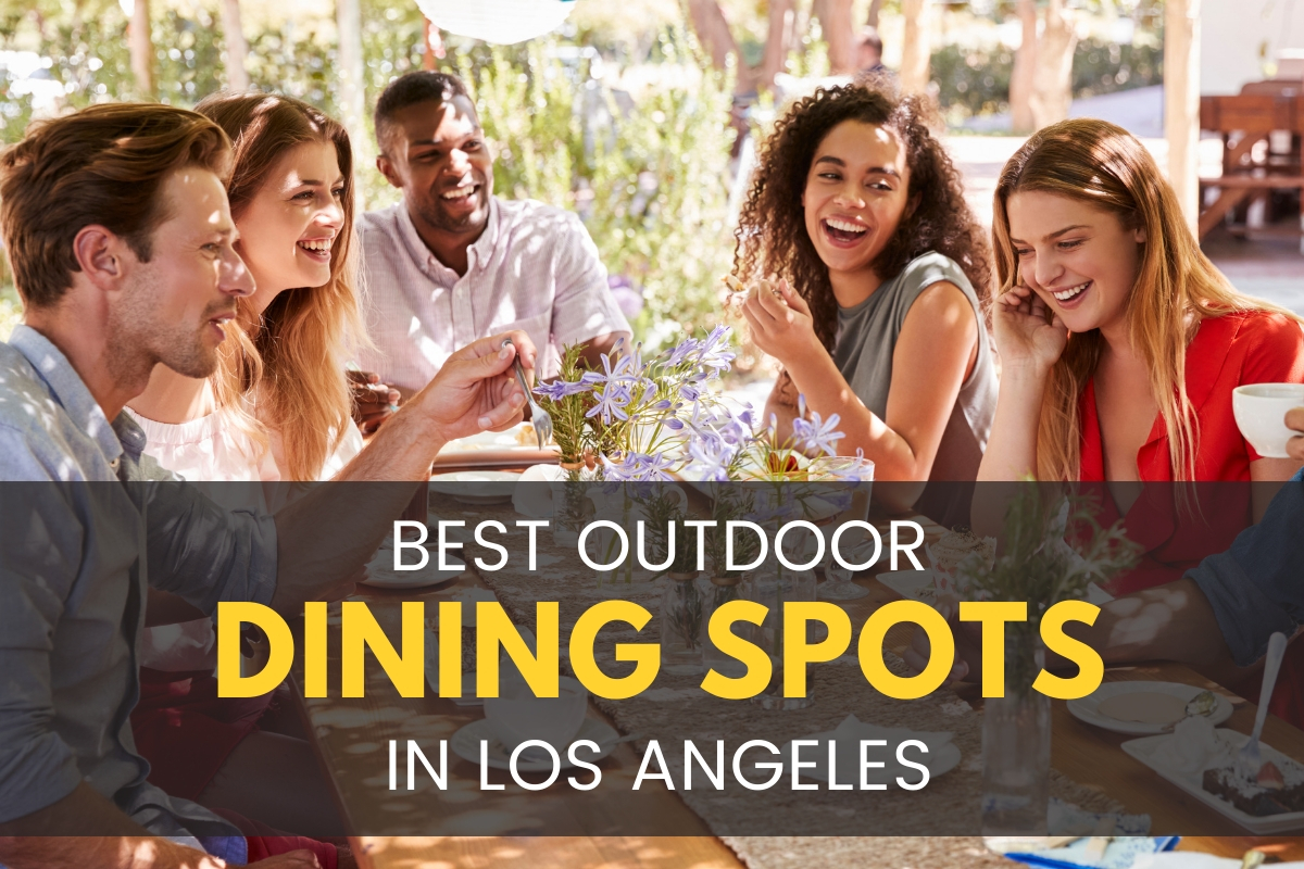 People celebrating with an outdoor dining