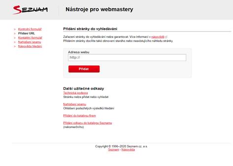 indexace v Seznamu webmium