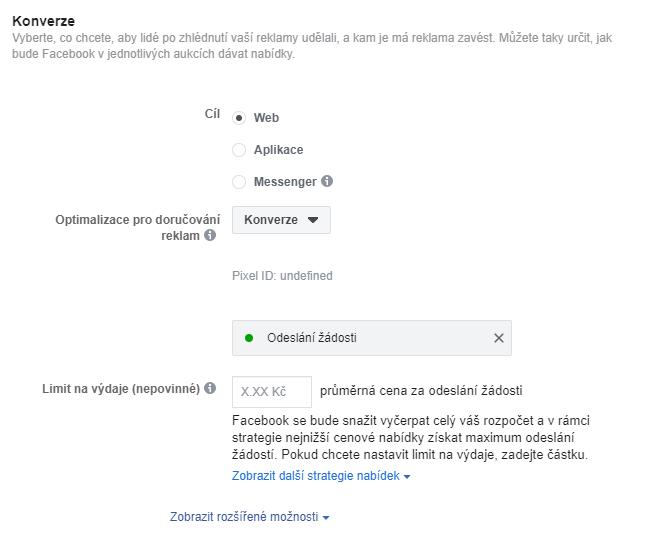 Reklama na Facebooku Webmium