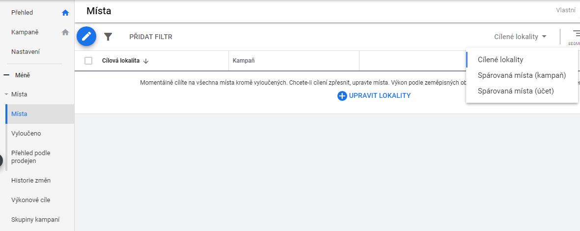 Google Ads novinky Webmium