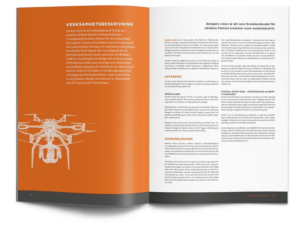 Intuitive Aerial investment memorandum spread