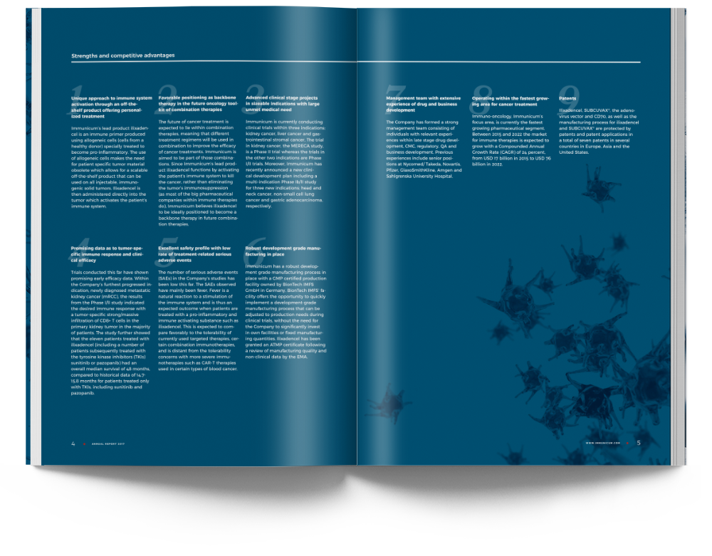 Immunicum annual report 2017 spread
