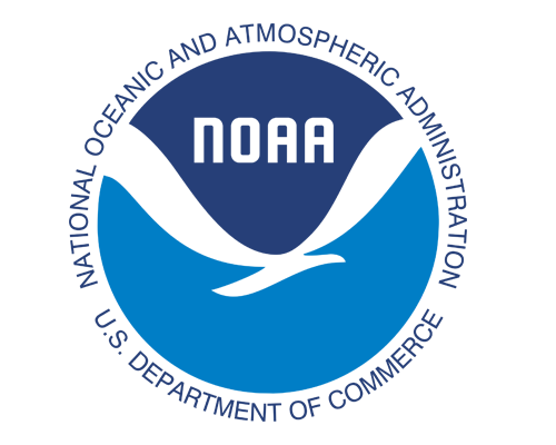 Logo for NOAA, National Oceanic and Atmospheric Administration.