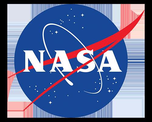 Logo for NASA.