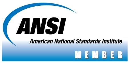 Logo for American National Standards Institute.